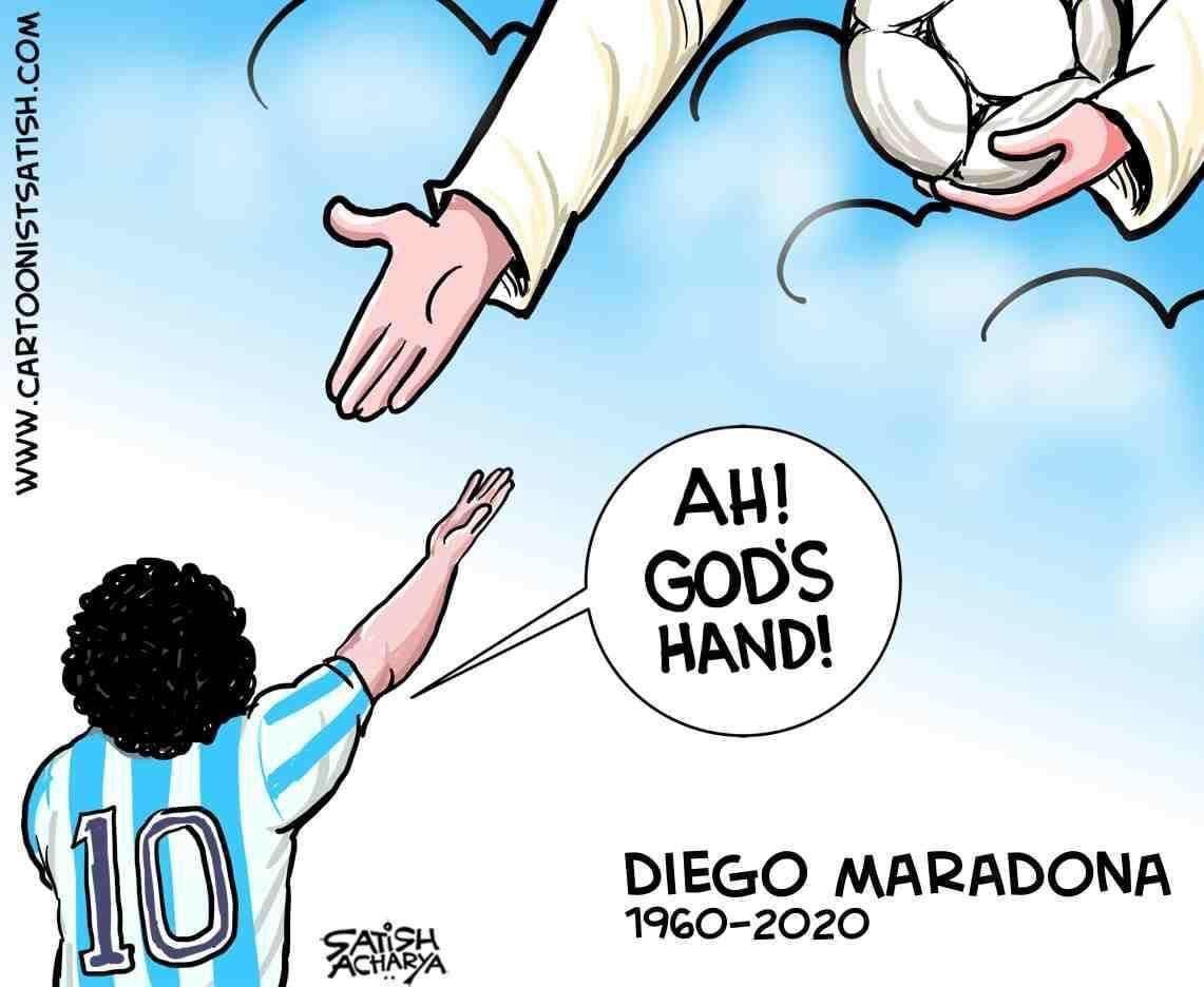 Μαραντόνα: Συγκλονιστικό σκίτσο! Ο Θεός άπλωσε το χέρι στον Ντιέγκο (pic) 1
